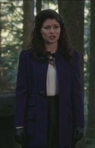 coat belle tweed purple emilie de ravin once upon a time show