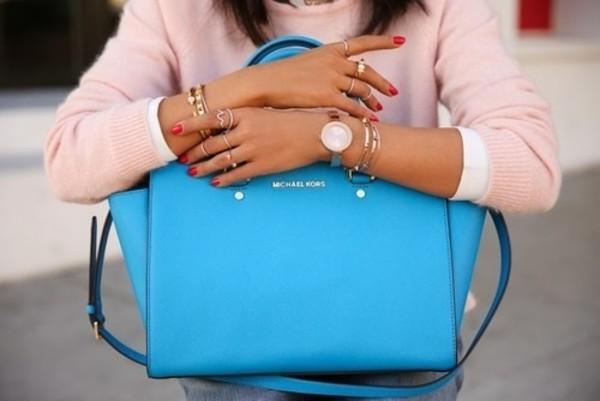 bag blue bag michael kors