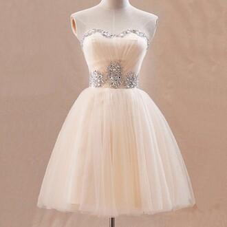dress prom dress beautiful beige