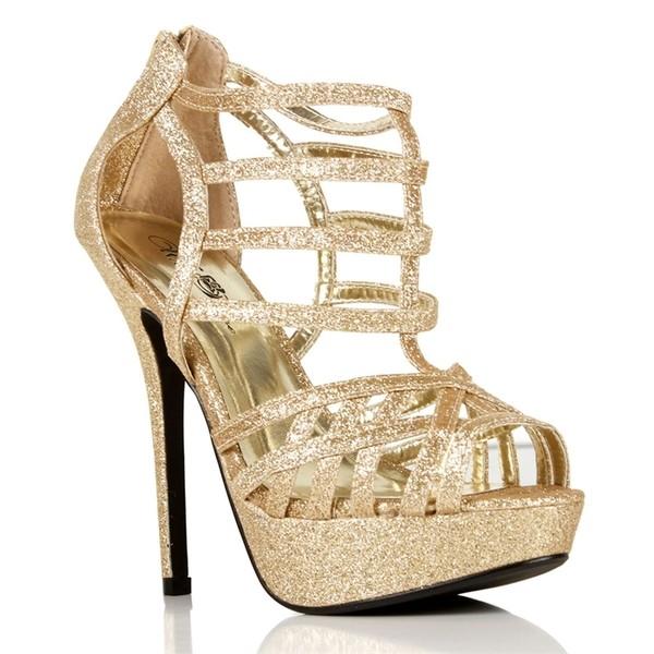 Glitsy Strappy Heels - Polyvore