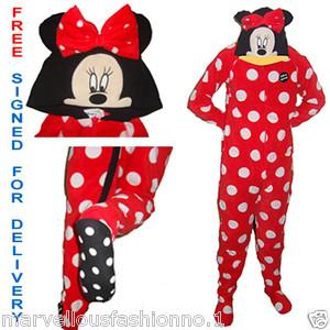 Adults womens ladies fleece onesie sleepsuit pyjamas babygrow all in one primark