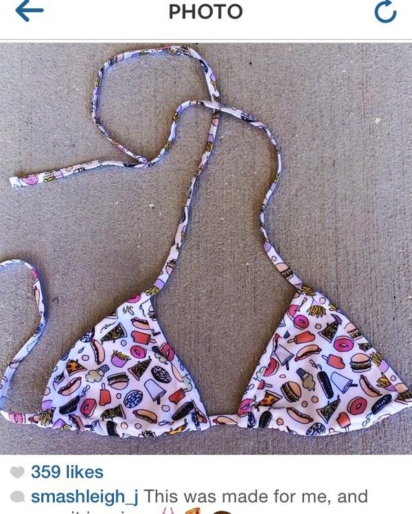 swimwear triangle bikini food two-piece