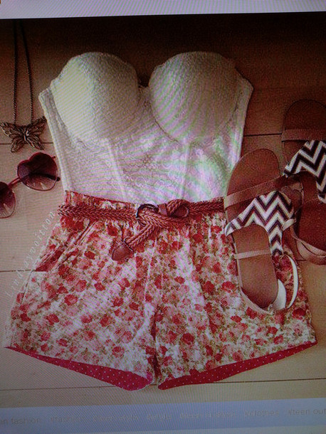 pants floral cute