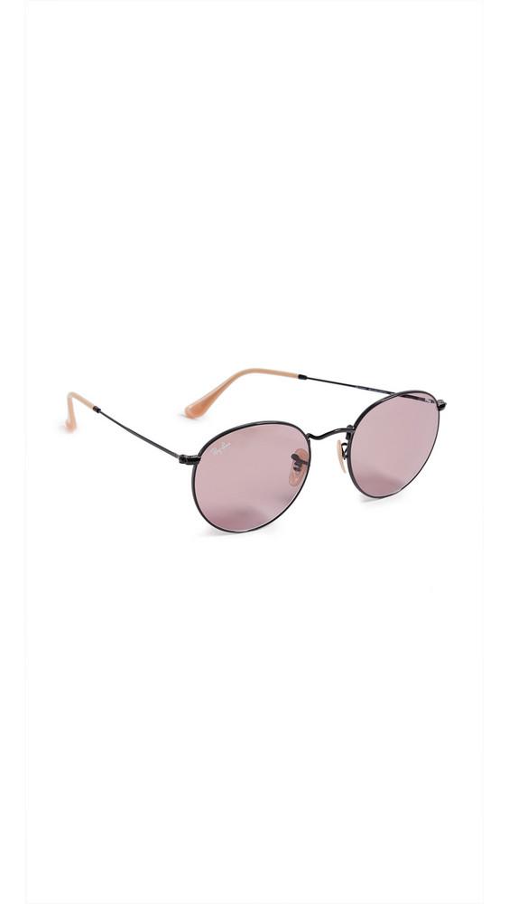 Ray-Ban Round Sunglasses in black / purple