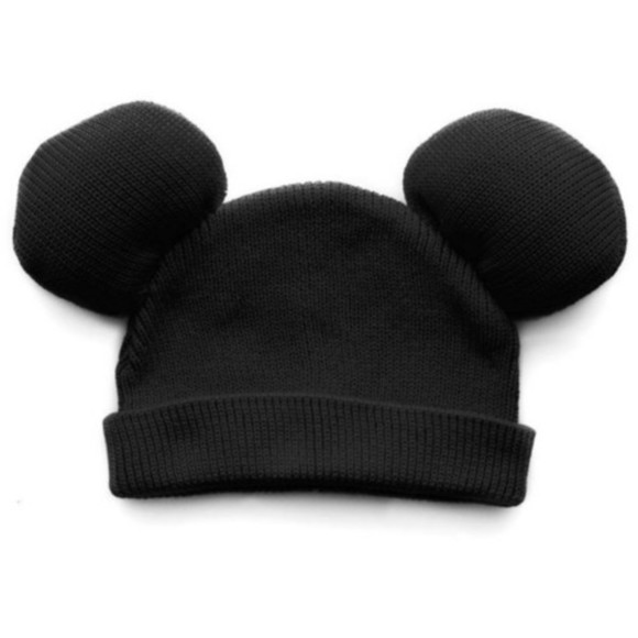 hat mickey mouse beanie ears black adorable cute indie house of troika hipster blak disney blake 1black black hat mickey mouse beanie