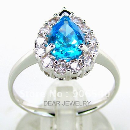 Silver Rings Blue Topaz colorfully stone wedding jewelry 2012 Hot sale in Ebay DSC09879 Free shipping-in Rings from Jewelry on Aliexpress.com