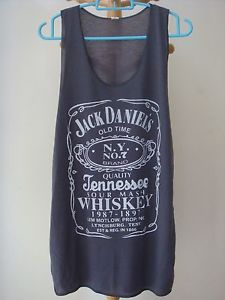 Jack Daniel's Tennessee Whiskey Tank Top Medium Grey Shirt Women Tshirt Size M | eBay