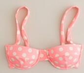 swimwear,bikini,polka dots