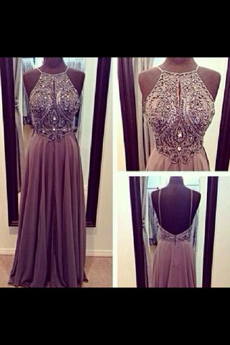 dress prom dress beaded dress halter dress chiffon dress