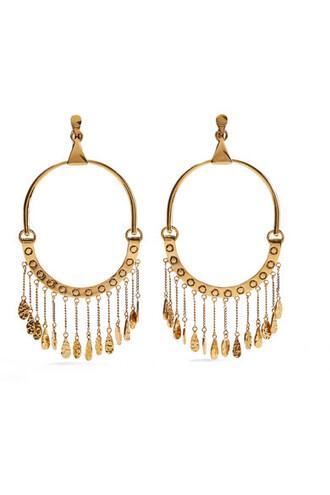 oversized earrings gold jewels