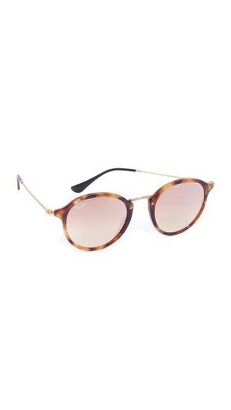 sunglasses round sunglasses brown copper