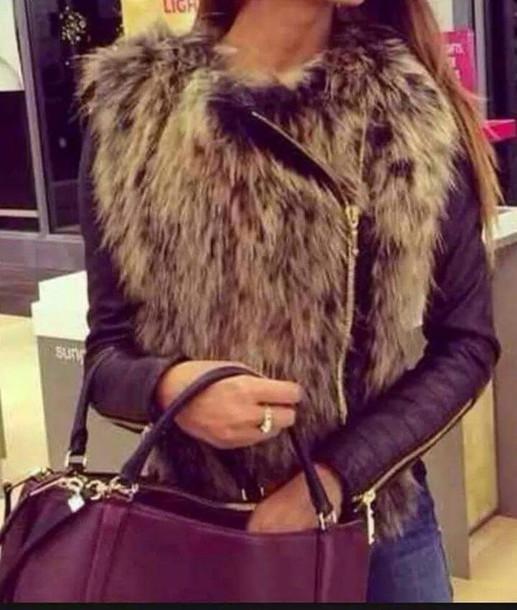 jacket faux fur jacket faux fur faux leather