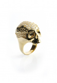 New Skull Ring Gold | Vivienne Westwood
