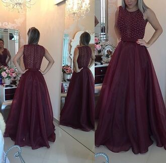 dress maroon/burgundy graduation dress