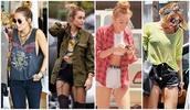 pants,miley cyrus,jeans,t-shirt,jacket,shoes,blouse,coat