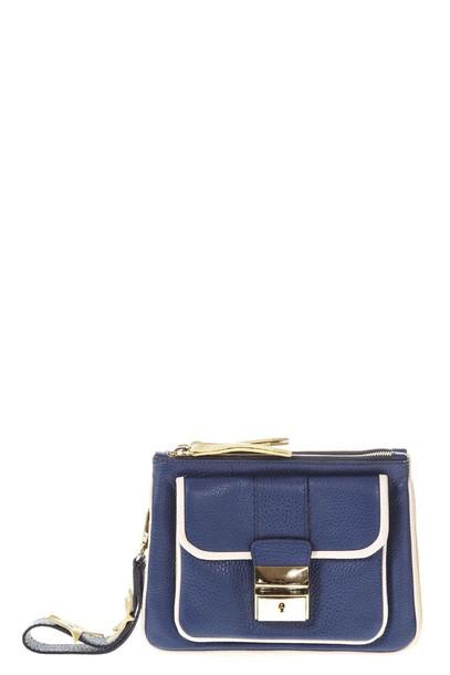 Frankie Morello clutch blue bag