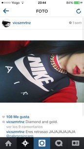 sweater,nike air,nike,red,black