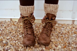 shoes fall booties boots socks orange brown brown leather boots leafs girl cold