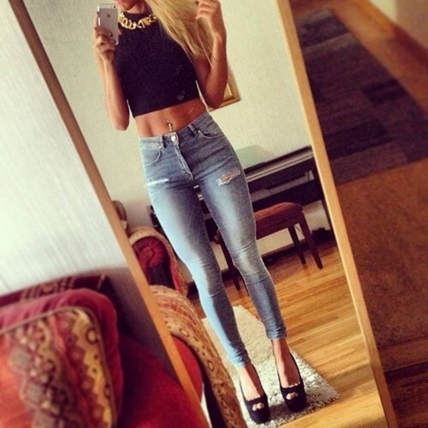 jeans blouse shoes jewels super skinny jeans jeggings tank top high waisted jeans ripped jeans
