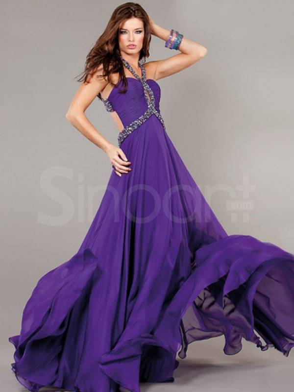 dress for prom and evening party sleeveless chiffon dress