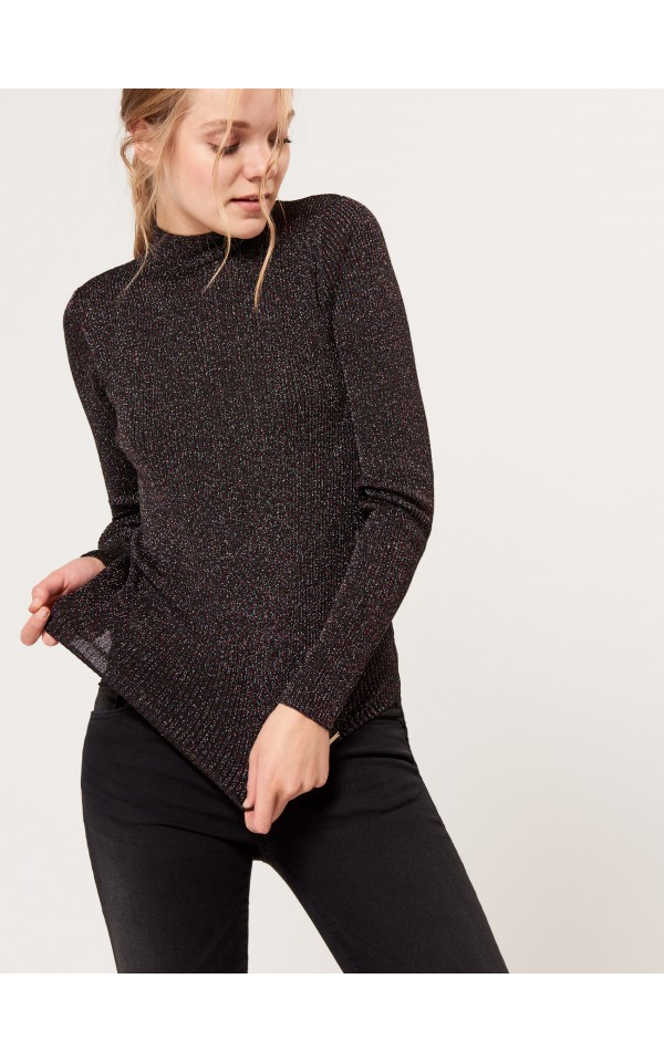 Fitted turtleneck with glitter gloss, MOHITO, SL000-99X
