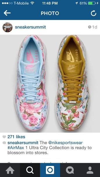 shoes nike floral air maxes