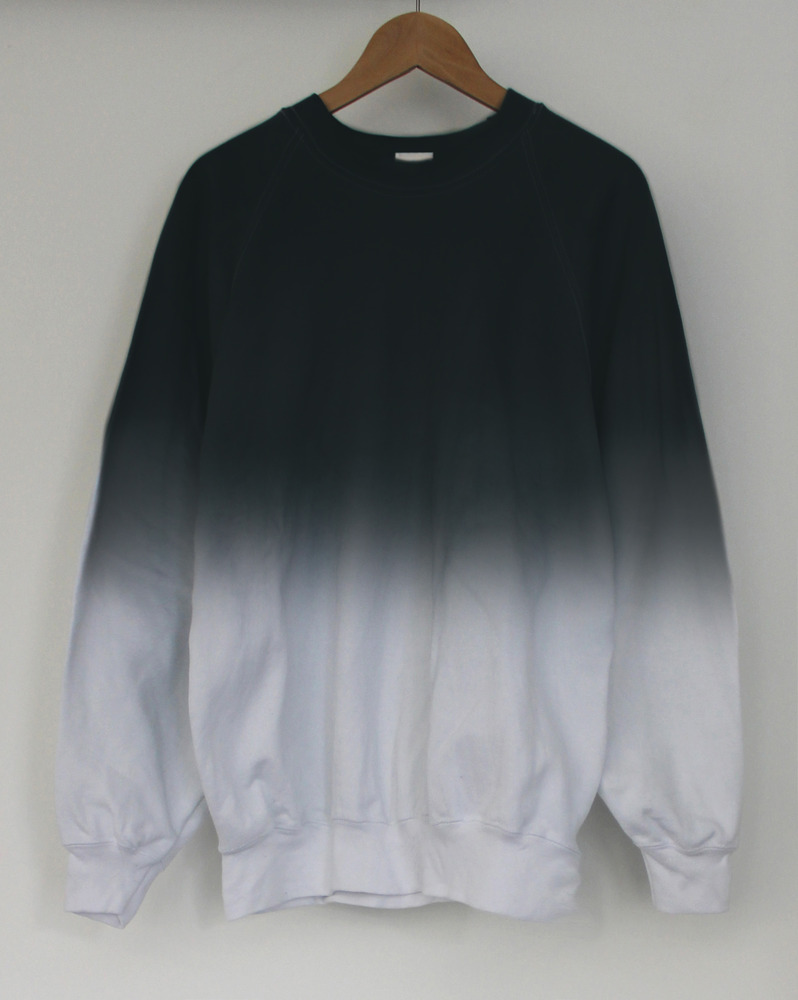 Black midnight dip dye sweater