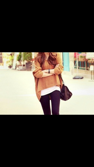 sweater caramel camel pullover pullovers