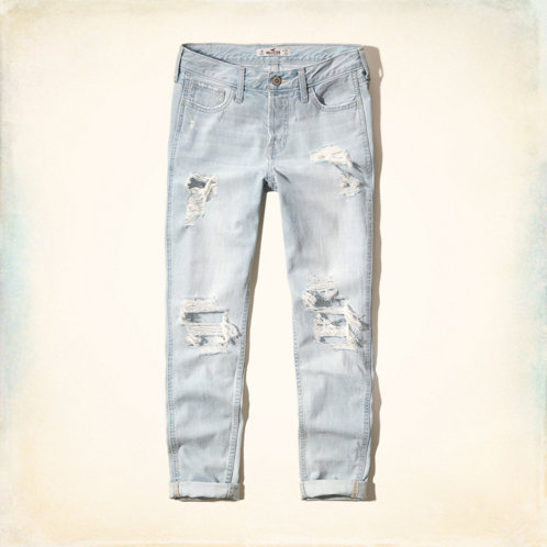 hollister cut up jeans