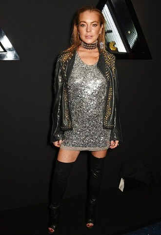 shoes lindsay lohan boots dress over the knee boots