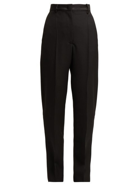 Joseph - Electra High Rise Wool Grain De Poudre Trousers - Womens - Black