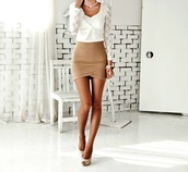 skirt,fashion,love,girl,wear,tan,style,pencil skirt,dress