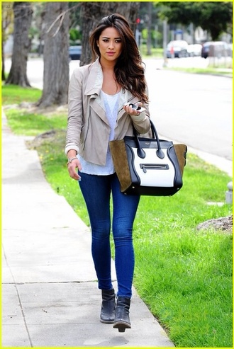 jacket shay mitchell beige jacket casual comfy