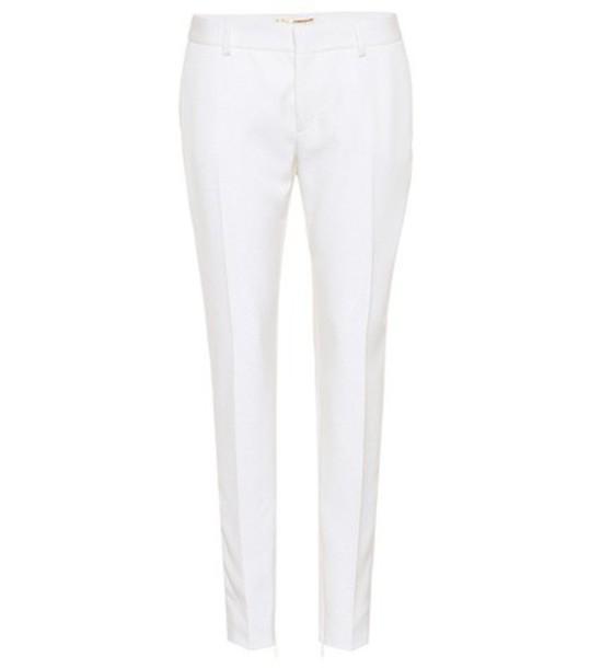wool white pants