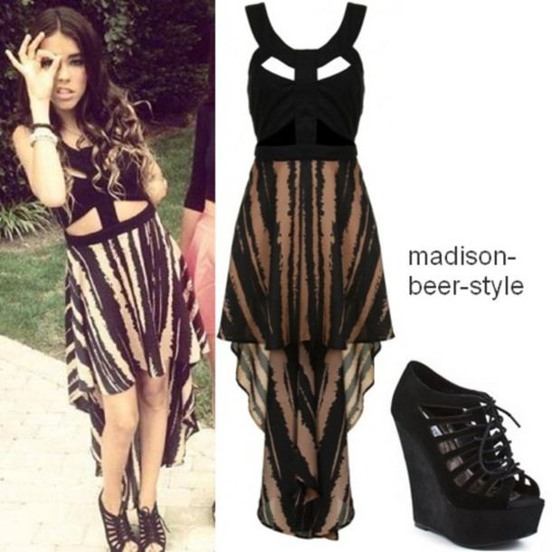 dress animal print madison beer