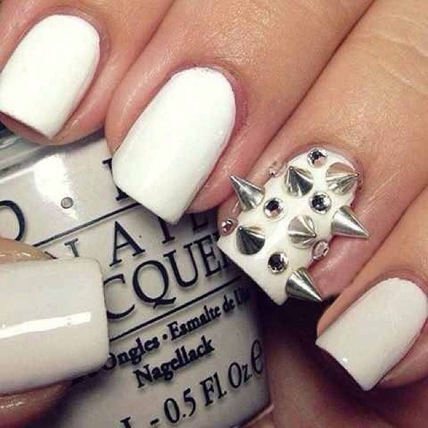 nail polish nail polish white studs