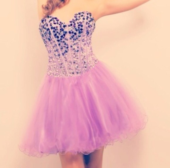 corset dress purple dress prom dress crystals corset dress