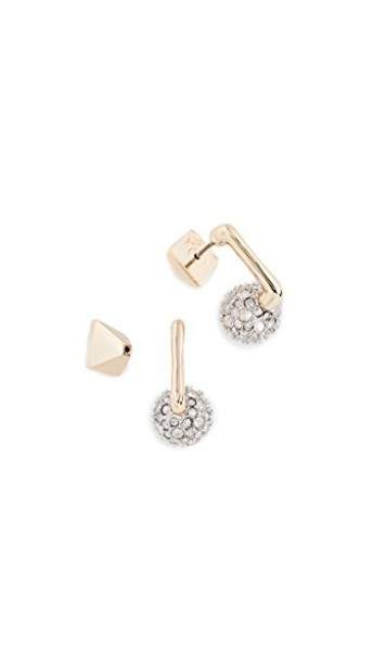 Alexis Bittar ball earrings gold jewels