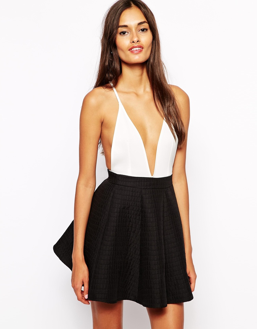 Oh My Love Plunge Neck Bodysuit at asos.com