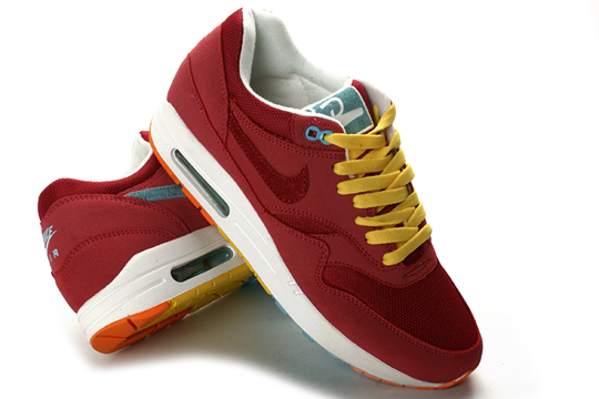 red and yellow air max
