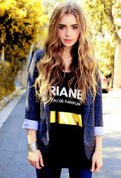 eau de parfume,dark blue sweater,shirt,lily collins