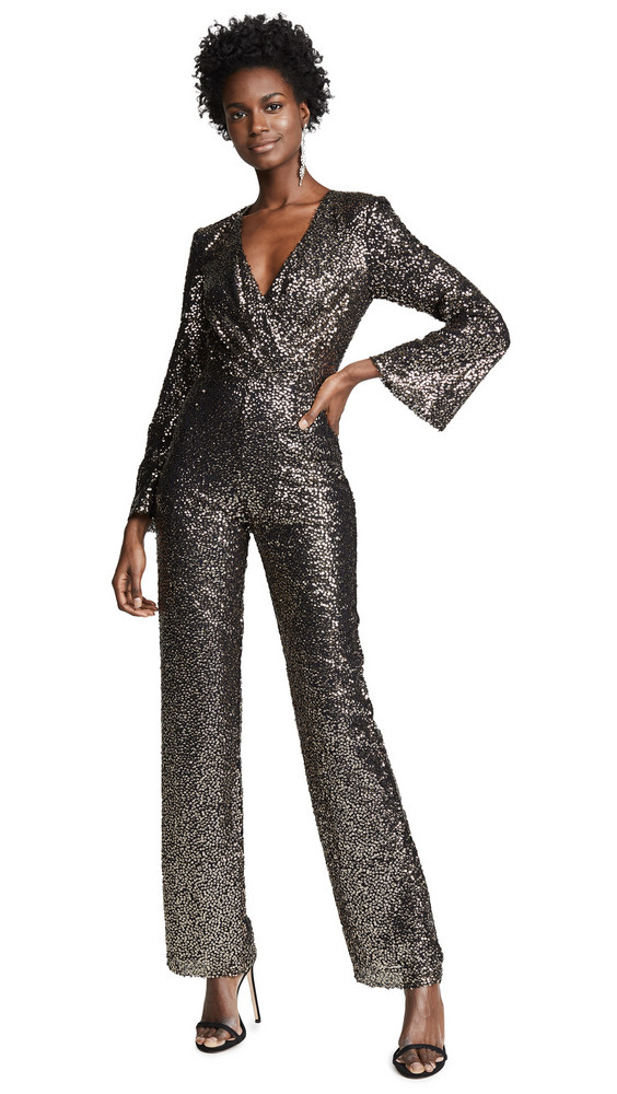 c266e5baae4 Misha Collection Sharnie Sequined Jumpsuit in gold