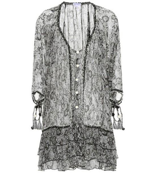 Poupette St Barth dress silk dress embroidered silk black