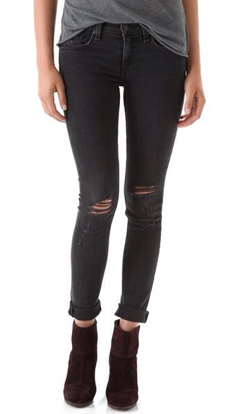 black jeans holes