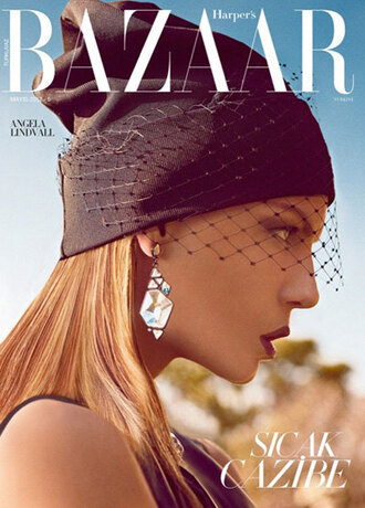 hair accessories cap mesh beanie editorial