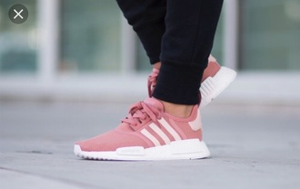shoes adidas adidas nmd r1 pink