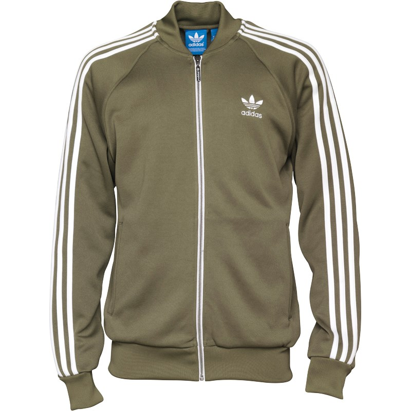 Buy adidas Originals Mens Superstar Track Top Olive Cargo