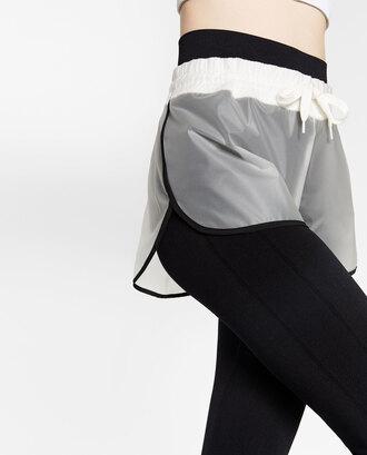 shorts sports shorts zara transparent