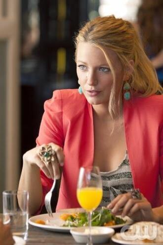 blake lively serena van der woodsen gossip girl dress jewels jacket coat