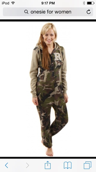 pajamas military style onesie army green jacket